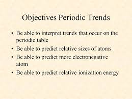 Trends in the periodic table: - ppt video online download