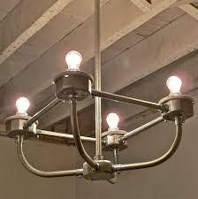 C A R D I N L - Handcrafted Galvanized Metal Conduit 4-Light Chandelier  T