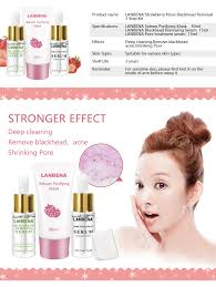 <b>LANBENA Strawberry Blackhead Remover</b> Mask + Pore Strip ...