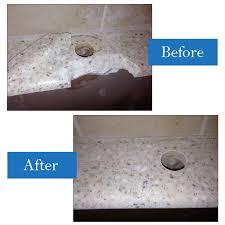 plumber broke countertop when replacing faucet