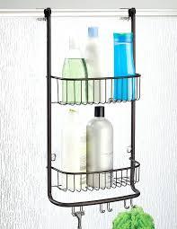 hanging shower shelf over door shower bathroom storage shelves for shampoo conditioner and soap sanliv over door double shelf hanging shower caddy single