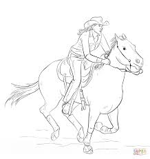 Cowboy Horse Coloring Pages For Kids With Cowgirl Coloring Page Free