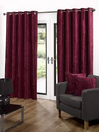 Living Room Ready Made Curtains Velvet Eyelet Fully Lined Ready Made Curtains Red Home