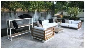 black cast aluminium garden furniture set aluminum outdoor table chairs modern teak shelves contract hospitality barn