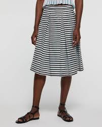 Light Blue Striped Skirt Striped Skirt Light Blue Sisley