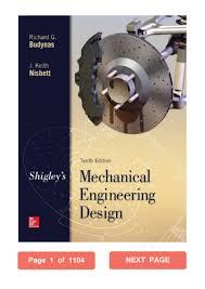 Mechanical Design Shigley Pdf Shigleys Mechanical Engineering Design Richard G Budynas