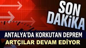 Antalya'da 4,0 Şiddetinde Deprem Oldu - Son Depremler - My Memur