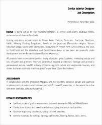 Architectural Designer Resume Job Description Interior Design Resume Examples