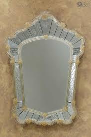 venexiana el conte wall venetian mirror murano glass and gold