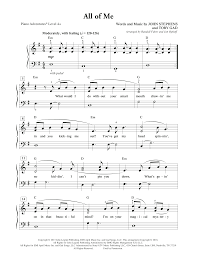 Delivering his own song all of me, assisted by toby gad, scored the most popular single in the uk in 2014. All Of Me Sheet Music To Download