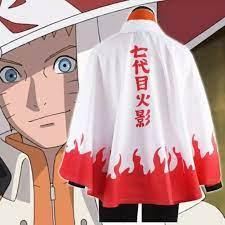Hóa Trang Naruto Trang Phục Ninja Hokage Uzumaki Naruto Thứ 7 Trang Phục  Halloween Áo Choàng Hóa Trang Dành Cho Nam S-XL