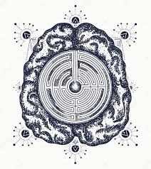 картинки символы философии мозг и лабиринт тату искусства символ
