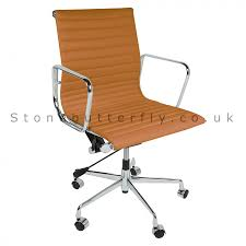 eames ribbed chair tan office. Modway Ribbed High Back Office Chair Brown Genuine Eames Style Low Leather Wheelchair Purchase Hardwood Floor Tan M