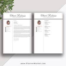 Professional Resume Template Cv Template 3 Page Creative Resume