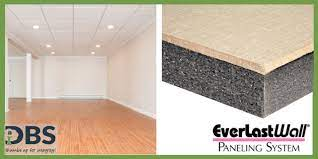 wall paneling system rises above drywall
