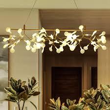 led chandelier lighting fixture modern firefly tree branch chandeliers home indoor lighting european hanging lamps l110cm