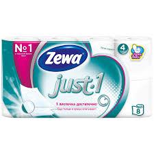 Купить <b>туалетная бумага Zewa Just</b> 1 4 слоя, цены в Москве на ...