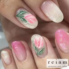 春ネイルはお花が人気 広島ネイルならreiamリアム