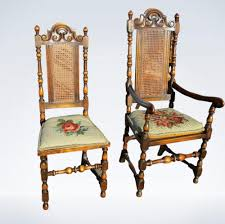 antique dining room chairs. Set 12 Twelve Antique High Back Dining Chairs Carolean Jacobean Room