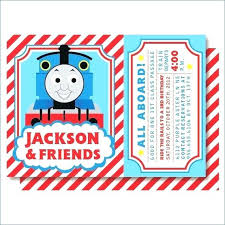 Best The Train Party Images On Thomas Tank Engine Invitation