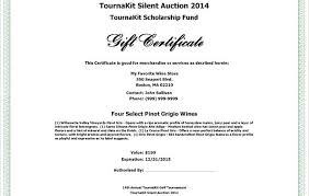 auction bid sheet template free x silent auction certificate template free item gift charity