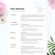 Minimalist Resume Cover Letter References Template Package