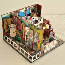 diy miniature wooden doll house furniture kits toys handmade craft miniature model kit dollhouse toys gift for children td6