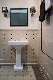 bathroom backsplash tiles. Bathroom Backsplash Mania \u2013 Design Ideas To Inspire You : Traditional Powder Room With Cream Tiles N