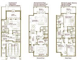 Luxury Townhouse Floor Plans Oriana Sea  Building Plans Online Townhomes Floor Plans