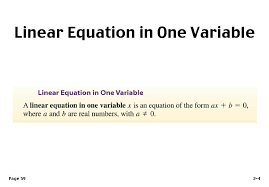 linear equations