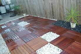 create a beautiful wood tile patio deck