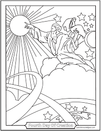 Small Picture Creation Coloring Pages God Made The Sun Moon And Stars