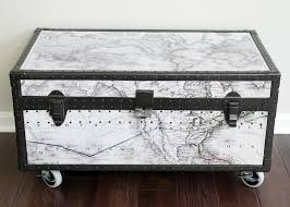 antique trunk makeover a beat up old military trunk gets a fresh start with a