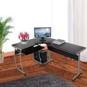 home office desk corner. 3-Pieces L-Shaped Desk Home Office Corner Computer PC Table FSBR