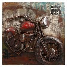 motorcycle wall art metal