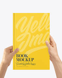 Allow a gorgeous showcase to your designs with this gorgeous hardcover book mockup set — and may there be a touch of luxe in every image you make! Book Mockup In Hands In Stationery Mockups On Yellow Images Object Mockups