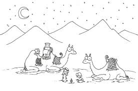 Small Picture Two Camel in the Desert Coloring Page Download Print Online