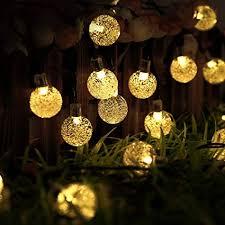 decorative solar lighting. Outdoor Solar Lights Strings, LTROP 20ft 30 LED Waterproof Fairy Bubble,  Crystal Ball Decorative Solar Lighting