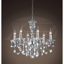 creative of lighting crystal chandeliers maddison shine 6 light gleaming chrome crystal chandelier 22hx24