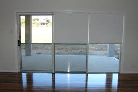 triple roller blinds for glass sliding doors 02