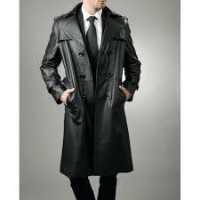 black trench coat mens full length black leather trench coat for men black trench coat mens