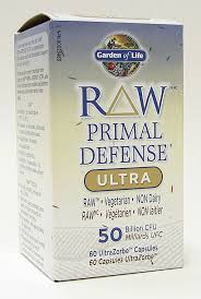 raw primal defense ultra 50 billion cfu raw vegetarian non dairy 60 caps garden of life gaudaur natural foods vitamins supplements