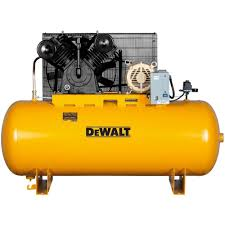 compresor industrial. dewalt dxcmh9919910 two-stage cast iron industrial air compressor, 120-gallon compresor