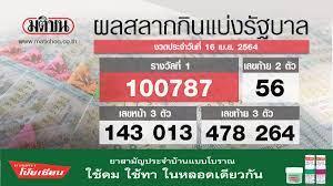 ตรวจหวย ผลสลากกินแบ่งรัฐบาล งวด 16 เมษายน 2564 (สด)