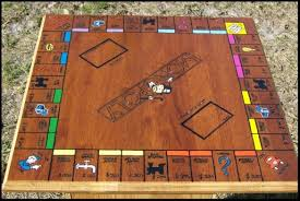 Wooden Board Games Plans Monopoly game commissioned piece Woodworking Talk 6