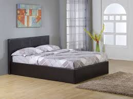 Dark Brown 4ft6 Double Storage Ottoman Gas Lift Up Bed Frame TIGERBEDS  BRANDED PRODUCT: Amazon.co.uk: Kitchen & Home