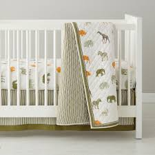 Baby Bedding: Neutral Safari Crib Bedding in Crib Bedding Collections | The  Land of Nod