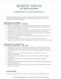 Auto Sales Consultant Sample Resume. Car Resume Examples Car Sales ...