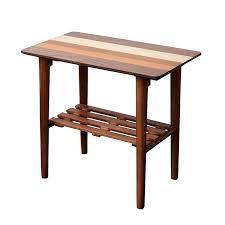 pedestal end table round