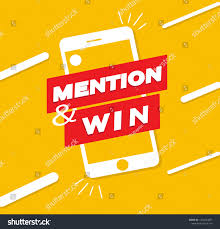 Design To Win Post Design Contest Win Mention Win Stock Vector Royalty